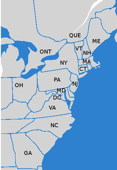 We Specialize In Dry Bulk Transportation In The Northeastern United States And Canada We Currently Ship To All Us States And Canadian Provinces Labeled